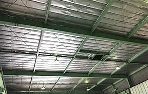 屋根部分、全面施工後